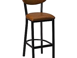 Regal Dixon 30 in. Upholstered Bar Stool Black - 2508USB-30-ANODIZED NICKEL-BLACK