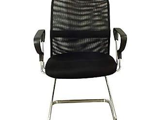 Pelegrin Cadeira Interlocutor Silver Tela Mesh Preta PEL-8036 - Pelegrin