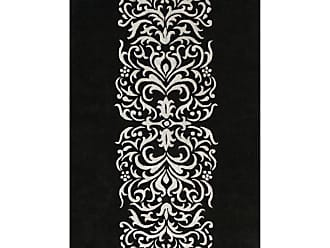 Noble House Amber AMB70 Rectangle Indoor Area Rug Black / Silver, Size: 8 x 11 ft. - AMB708811