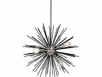 Dainolite VEG-196P 6 Light 20 Wide Sputnik Chandelier Gold / Vintage