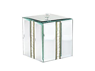 The Jay Companies American Atelier Cotton Ball Decorative Box, Silver