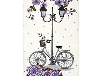 Évolur Home Lilac Vintage Bike Nursery Rug, Girls - 1054