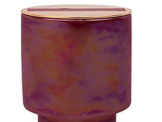 Paddywax Candles Glow Collection Scented Soy Wax Blend Candle in Iridescent Ceramic Pot, Small- 5 Ounce, Cranberry & Rosé