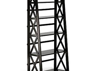 Simpli Home Simpli Home 3AXCRGL004 Kitchener Solid Wood 63 inch x 30 inch Contemporary Ladder Shelf in Dark Walnut Brown