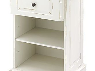 Whitmor Distressed 2 Shelf Storage Cabinet, Chestnut & White
