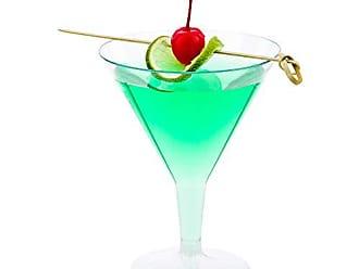 Restaurantware Plastic Martini Glass, Disposable Martini Glasses - Crystal Clear Premium Plastic - 7.5 oz - 100ct Box - Restaurantware