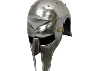 Urban Designs Imported Antique Replica Full-Size Metal Gladiators Arena Helmet, Silver