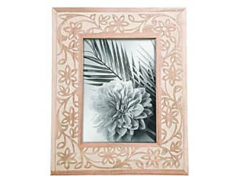 Foreside Home And Garden 5X7 Amherst Photo Frame Brown, White