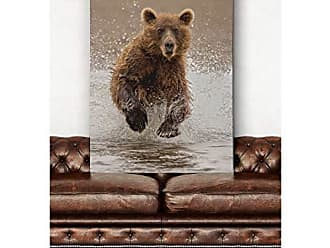 WEXFORD HOME Bears at Play II Gallery Wrapped Canvas Wall Art, 36x48
