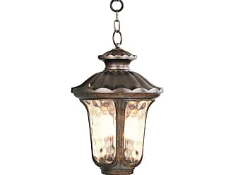 Livex Lighting 7665 3 Light 180 Watt Outdoor Pendant with Light Amber