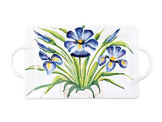 Vietri Wall Plates Iris Handled Rectangular Platter