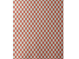 E by Design E by design RGN176OR9TA1-23 Gingham Check Geometric Print Indoor/Outdoor Rug, Seed