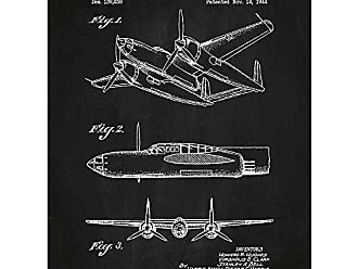 Inked and Screened SP 139,438_CH_24_W Tech and Gadgets Airplane-H. R. Hughes 1944 Print, Chalkboard-White Ink, 18 x 24