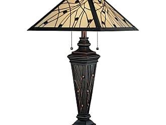 Lite Source Inc. C41117 2 Light Table Lamp with Dark Bronze / Tiffany Shade