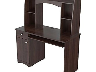 Inval America CC-6901 Jansse Workstation with Hutch Brown