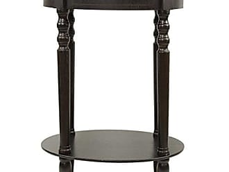 Decor Therapy Décor Therapy Simplify Oval Accent Table, Espresso