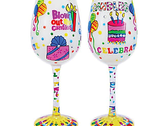 Gift Essentials 15 oz. Blow Out The Candles Wine Glass - WGBLOWOUTTHECAN