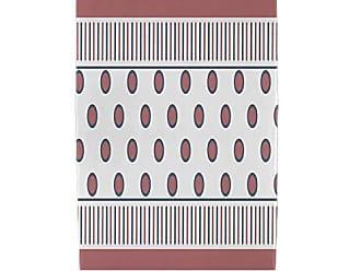 E by Design Ebydesign Center Stripe Print Beach Towel 30 x 60 Orange