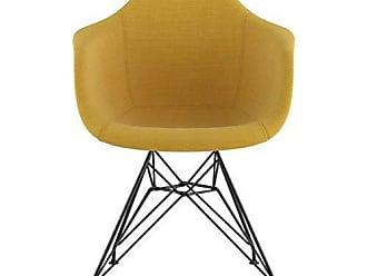 NyeKoncept 332003EM3 Mid Century Eiffel Arm Chair, Papaya Yellow