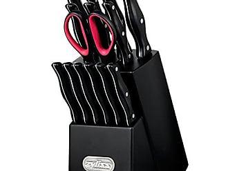 Zyliss Expert Knife Block Set with Steak Knives, Black, 15 Piece