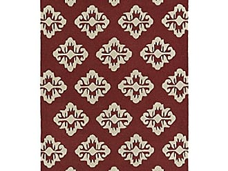 Kaleen Rugs Spaces Collection SPA09-08 Cranberry Hand Tufted Rug, 8 x 10