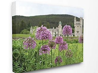 Stupell Industries The Stupell Home Decor Collection Royal Castle Purple Flowers Photograph Stretched Canvas Wall Art 24x30 Multi-Color