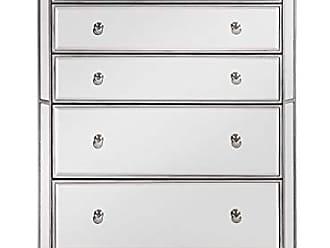 Elegant Lighting Elegant Decor MF6-1026S 5 Drawer Cabinet, Silver