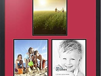 Art to Frames Art to Frames Double-Multimat-1669-762/89-FRBW26079 Collage Photo Frame Double Mat with 3 - 9x12 Openings and Satin Black Frame