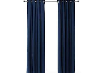 Furinno 2-FC66005DBL Collins Curtain 52x95 inches, Dark Blue