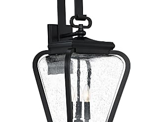 Quoizel Province 25 3-Light Outdoor Wall Lantern in Mystic Black