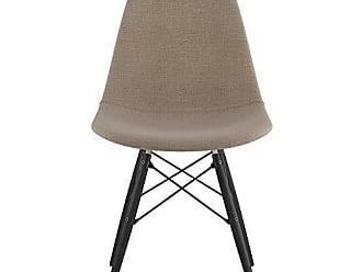 NyeKoncept 331001EW3 Mid Century Dowel Side Chair, Light Sand