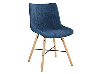 Walker Edison WE Furniture AZH18SNO2BU Dining Chairs Set of 2 Blue