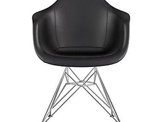 NyeKoncept 332009EM1 Mid Century Eiffel Arm Chair, Milano Black