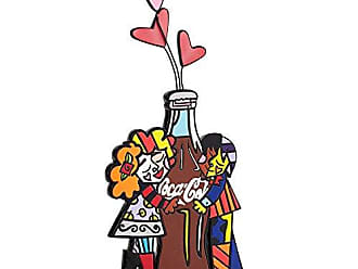 Enesco Coke by Romero Britto Hugging Coke Bottle Figurine, 11-Inch