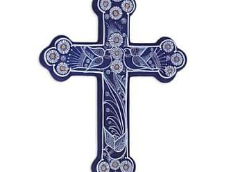 Novica Ceramic wall art, Serenity Cross