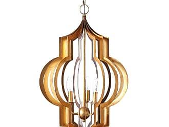 Regina-Andrew Design Pattern Makers Large Golden 3-Light Pendant
