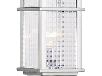 Feiss OL3407BRAL Mission Lodge Pier/Post Lantern in Brushed Aluminum finish with Clear checked glass