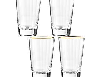 4 Piece Qualia Glass Helix Highball Gold//Clear
