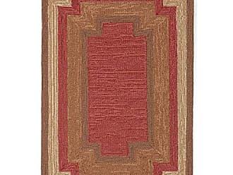 Liora Manne RVL23190524 Ravella Tonal Border Indoor/Outdoor Rug 2 X 3 Red