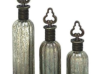 Deco 79 24786 Glass Stopper Bottle Set of 3