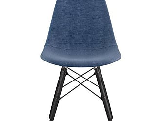 NyeKoncept 331006EW3 Mid Century Dowel Side Chair, Dodger Blue
