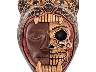 Novica Wood mask, Face of a Warrior