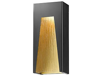 Z-Lite Millenial 18 Outdoor LED Wall Sconce in Black Gold