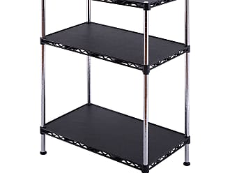 Costway 3-Tiers Adjustable Storage Rack Display Shelf