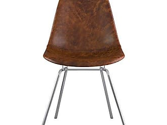 NyeKoncept 331013CL1 Mid Century Classroom Side Chair, Weathered Whiskey