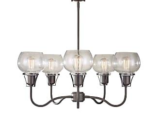 Feiss Urban Renewal 5 Bulb Rustic Iron Chandelier
