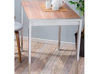 LumiSource Fuji Counter Height Dining Table - CT-FUJI AU+NCBK