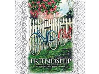 Heritage Lace Friendship-The Ride Wall Hanging, 12 by 15-Inch, White