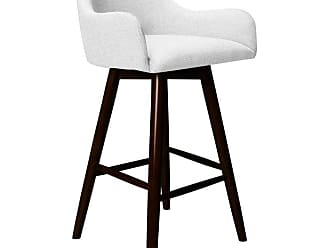 SOUTH CONE Luci 26 in. Upholstered Counter Stool with Swivel Espresso - LUCICS26/WAL/ESPRESSO