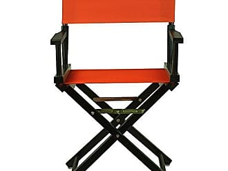 Yu Shan Casual Home 18 Directors Chair Black Frame with Orange Canvas